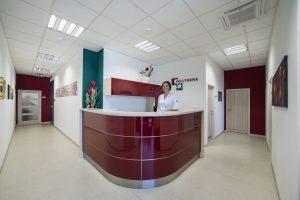 Recepce kliniky Cellthera v Brně