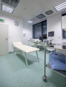 Aplikační sál kliniky Cellthera pro aplikaci kmenových buněk, krevní plazmy atd.