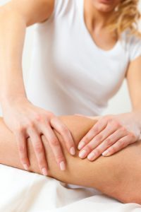 18838720 - patient at the physiotherapy gets massage or lymphatic drainage