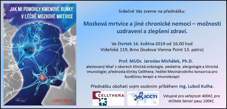 Pozvánka na přednášku a besedu s profesorem Michálkem